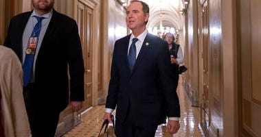 House Intelligence Committee Chairman Adam Schiff, D-Calif., departs the Capitol, late Wednesday, Jan. 22, 2020. (AP Photo/J. Scott Applewhite)