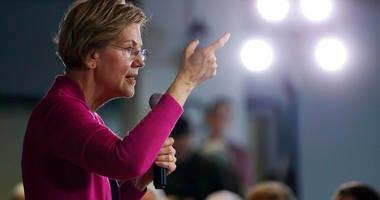 Democratic presidential candidate Sen. Elizabeth Warren, D-Mass., speaks during a town hall meeting, Monday, Dec. 16, 2019, in Keokuk, Iowa. (AP Photo/Charlie Neibergall)