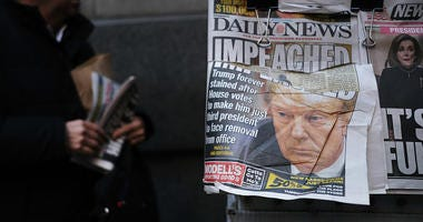 President Trump's Impeachment Leads Nation's Newspapers