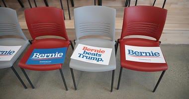 Bernie Sanders signs