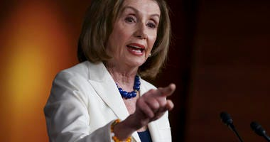 House Speaker Nancy Pelosi, D-Calif., responds forcefully to a question from a reporter who asked if she hated President Trump, after announcing earlier that the House is moving forward to draft articles of impeachment. (AP Photo/J. Scott Applewhite)