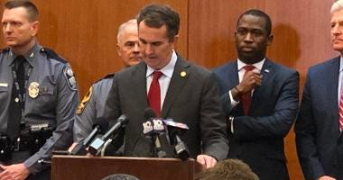Governor Ralph Northam declares a temporary State of Emergency on January 15, 2020. (Matt Demlein, WRVA)