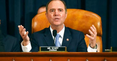 House Intelligence Committee Chairman Adam Schiff, D-Calif., gives final remarks during a hearing on Capitol Hill in Washington, Thursday, Nov. 21, 2019. (Bill O'Leary/Pool Photo via AP)