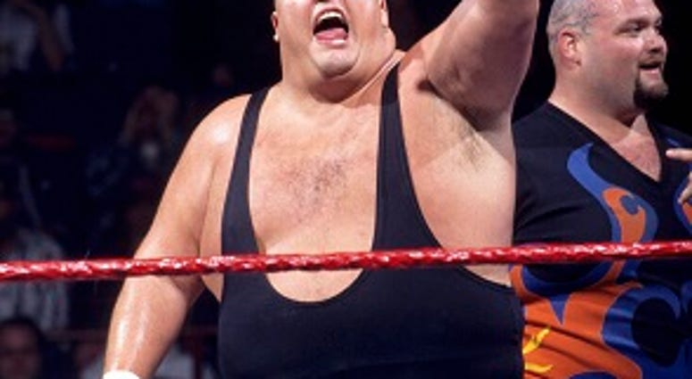 This image provided by the WWE shows professional wrestler King Kong Bundy. Promoter and longtime friend David Herro says Bundy, whose real name was Christopher Pallies, died on Monday, March 4, 2019.  (WWE via AP)