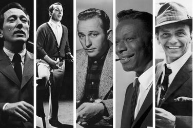 Andy Williams, Perry Como, Bing Crosby, Nat King Cole, Frank Sinatra