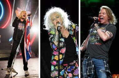 Def Leppard, Cyndi Lauper, Guns N' Roses