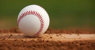 Baseball sits on mound