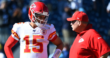 Chiefs HC Andy Reid and QB Patrick Mahomes