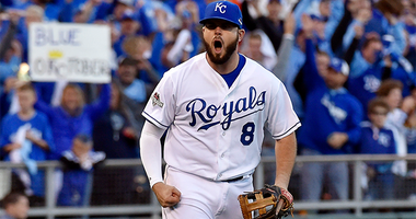 Former Royals third baseman Mike Moustakas