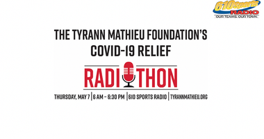 Tyrann Mathieu Foundation Radio-a-thon for Covid-19 relief