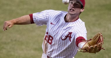 The Royals selected Alabama outfielder Tyler Gentry in the third round of the 2020 MLB Draft.