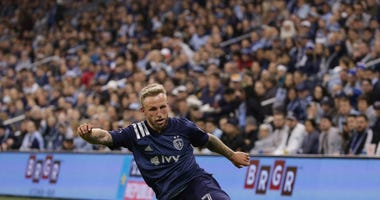Sporting KC forward Johnny Russell