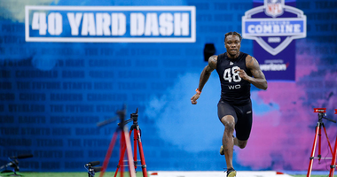 Alabama WR Henry Ruggs III at the NFL Combine.