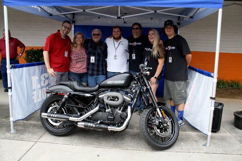 The Wolf's Smokin' Harley winner with The Wolf airstaff