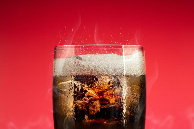 Soda in glass