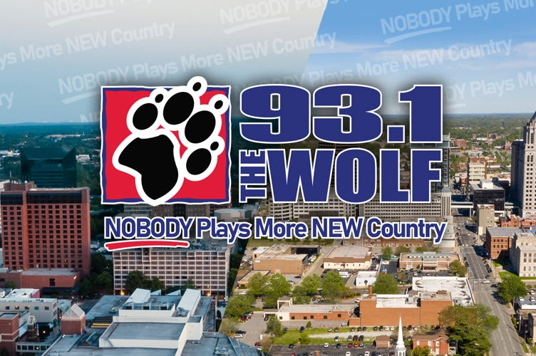 NOBODY plays more NEW Country than 93.1 The Wolf!