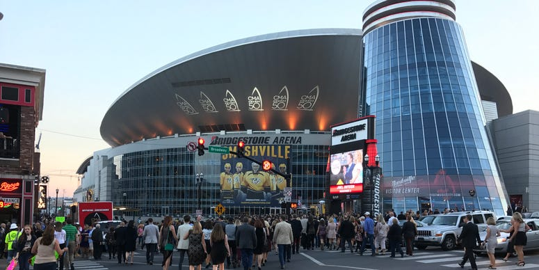 Nashville's Bridgestone Arena before the 50th CMA Awards