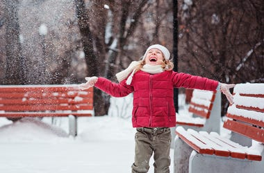 Happy Kid in Snow