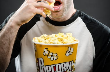 Movie Guy with Popcorn