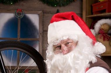 Santa Building Bike