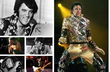 Elvis Presley, Michael Jackson, Prince, Bob Marley, XXXTentacion, John Lennon