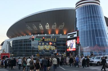 Nashville's Bridgestone Arena beofre the 50th CMA Awards
