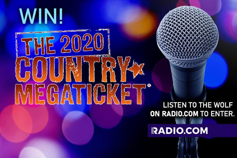 WIN The 2020 Mega Ticket from 93.1 The Wolf!