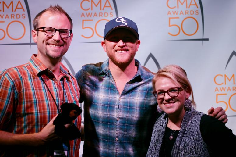 Cole Swindell with Clay and Corie