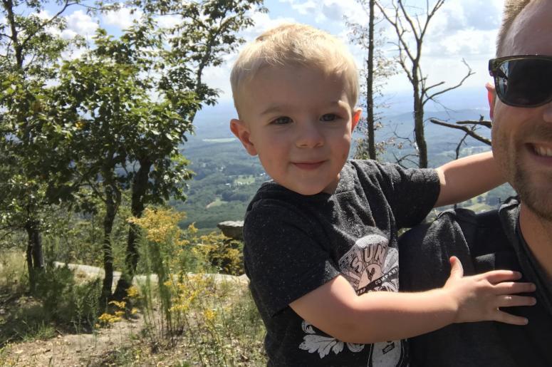 @clayjdwalker and #BittyFeller atop Pilot Mountain