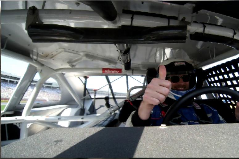 Clay goes racing at CMS