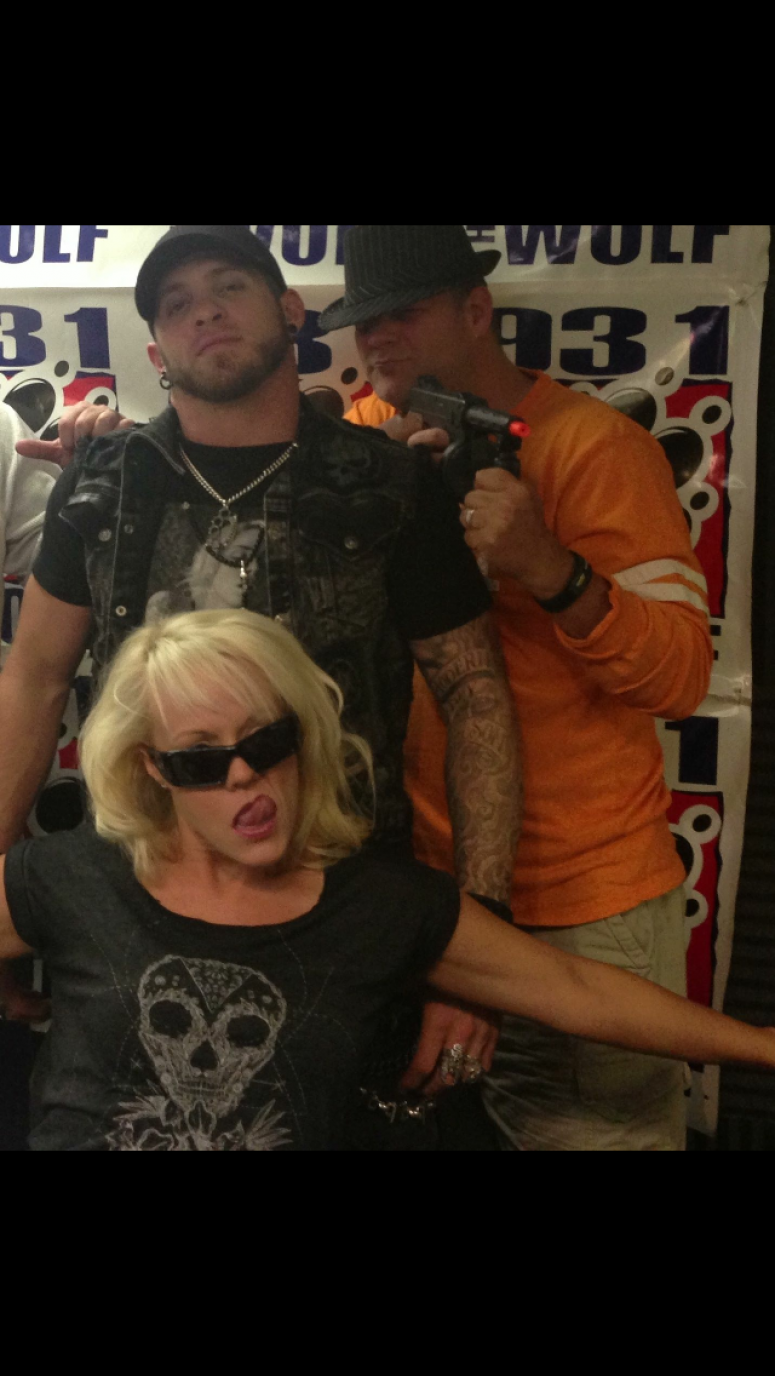 Brantley Gilbert with Gun and Jill