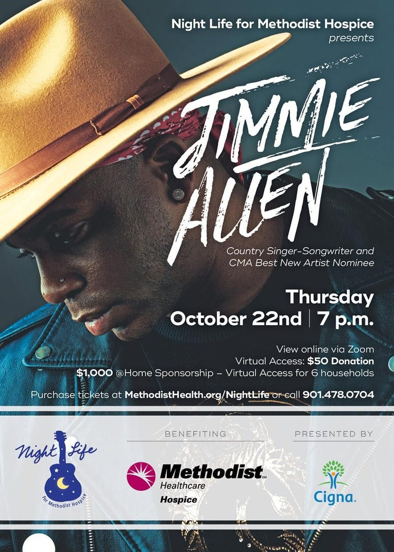 Jimmie Allen Night Life for Hospice