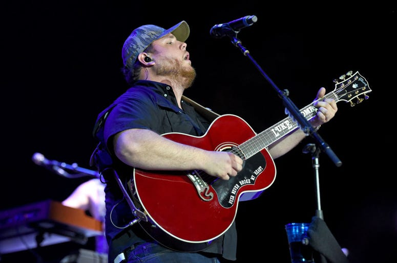 Luke Combs performs onstage during the 2019 Stagecoach Festival at Empire Polo Field on April 27, 2019 in Indio, California