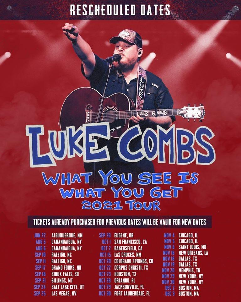 Luke Combs Rescheduled
