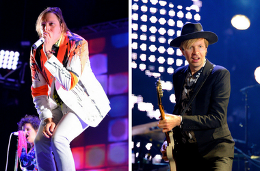 Beck and Win Butler of Arcade Fire
