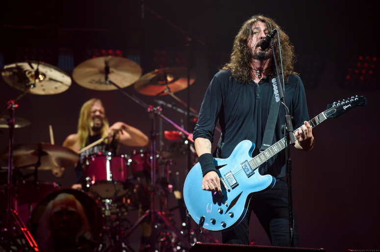 Taylor Hawkins and Dave Grohl of the Foo Fighters