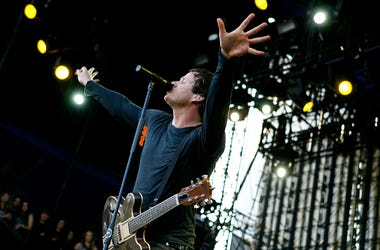 Tom DeLonge with Angels and Airwaves performs during the 2008 Voodoo Experience