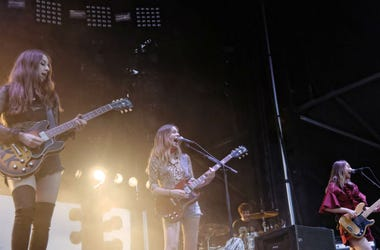 Haim performs during the 2016 Bonnaroo Music and Arts Festival at Great Stage Park.