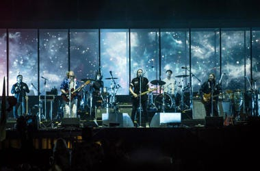 Arcade Fire perform live on stage on day 3 of the Isle of Wight Festival 2017