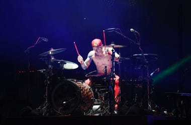 Josh Dun of Twenty One Pilots performs at the Hangout Stage during 2017 Hangout Music Festival on May 20, 2017 in Gulf Shores, Alabama