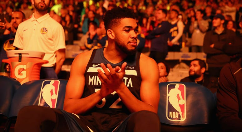 """Warriors """"monitoring"""" Karl-Anthony Towns"""