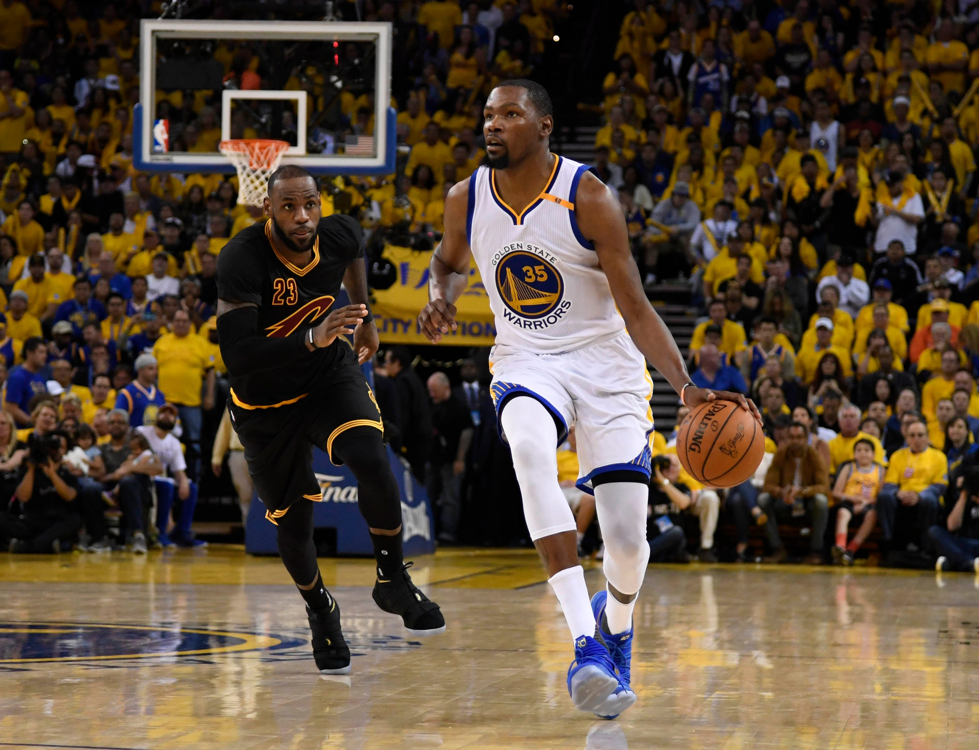 30788fc280a KD says LeBron  paved the way  for his move to the Warriors