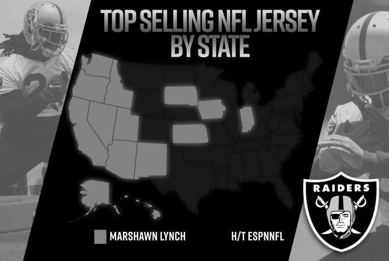 97191479 Beast Mode's jersey was the No. 1 seller during the month of May, according  to NFLShop.com. The running back is absolutley dominating the West Coast  when it ...