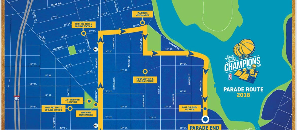 Everything you need to know for the Warriors Victory Parade | 95.7 on