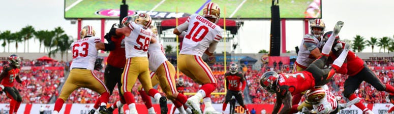 'Jimmy G is our quarterback right now' — John Lynch addresses potential QB controversy