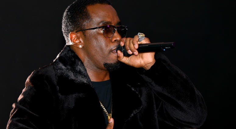 Sean Combs aka Diddy performs during the Revolt Party.