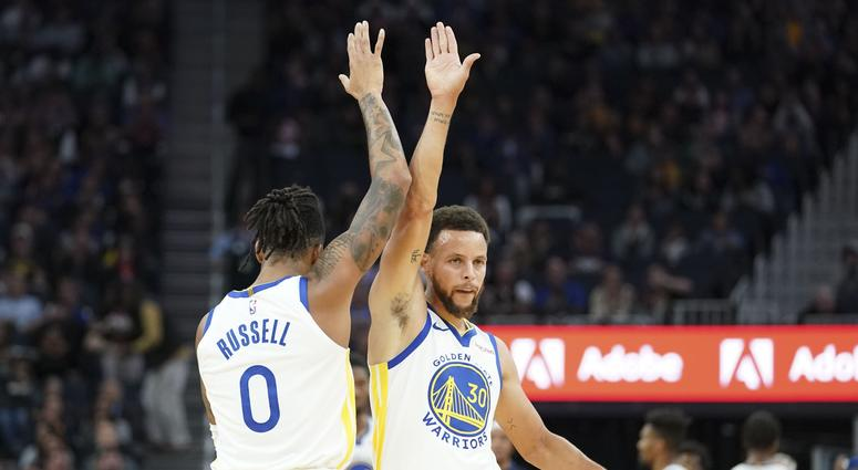 Steph and D'Lo combine for 61 points in Warriors 124-103 win over the Lakers