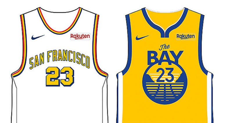 info for 20419 a9965 Warriors unveil 6 new jerseys ahead of 2019-20 season   95.7 ...