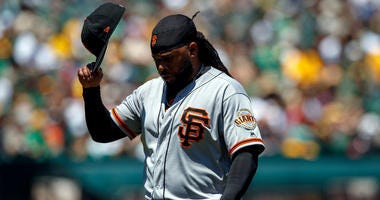 Cueto on track to join the Giants in early September