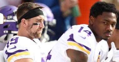 Adam Thielen hurts ankle, Stefon Diggs out sick again